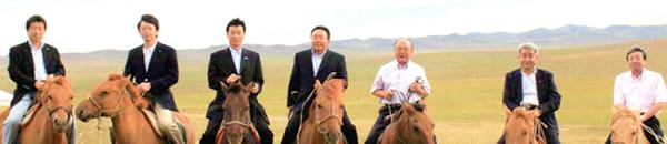 ツァヒアギーン・エルベグドルジ モンゴル国大統領ら