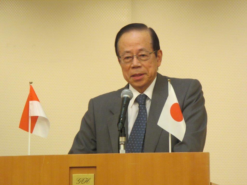 日本インドネシア友好協会会長福田康夫元首相