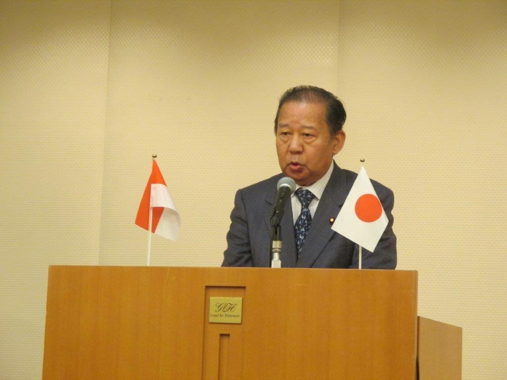 日本インドネシア友好議員連盟会長二階俊博衆議院議員