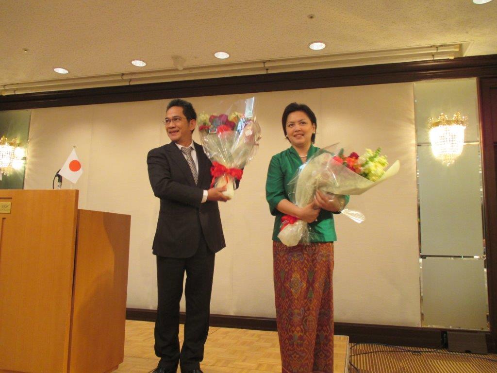 デヴィ・ルシアナ大使令夫人もご出席くださいました