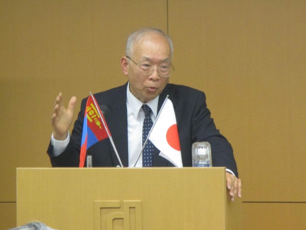 前モンゴル駐箚特命全権大使 城所卓雄先生