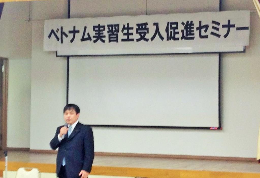 三好雅北海道議会議員によるご挨拶(2015.6.1 枝幸町)